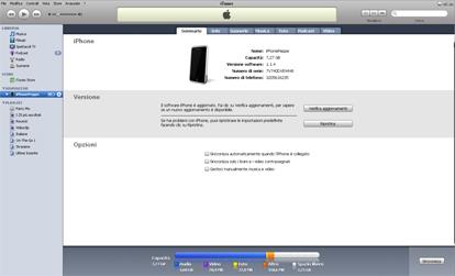 Sinconizzare l'iPhone con iTunes