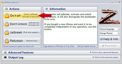 unlock ziphone windows iphone