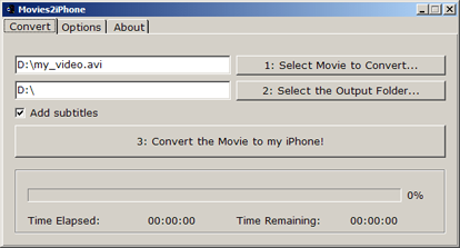 Movies2iPhone interfaccia