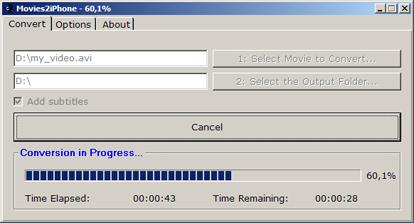 Movies2iphone conversione