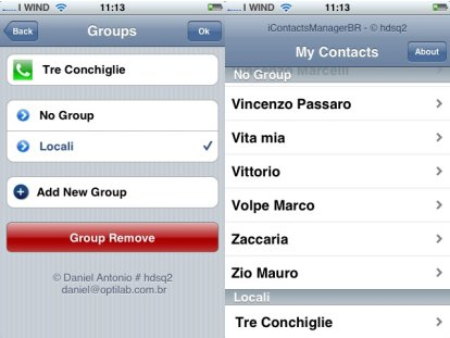 icontactsmanager per iphone