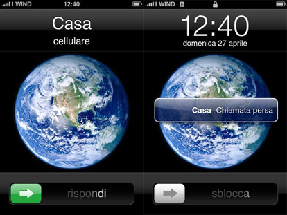 rifiutare chiamata iphone in stand-by