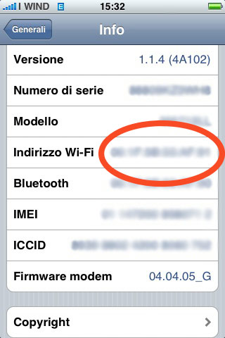 mac address on iphone ziphone 3 0 e wi fi il problema mac address iphone 4237