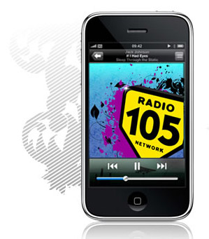radio 105 iphone 3g