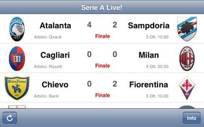 Alive Segui Il Campionato Di Serie A In Diretta Iphone Italia