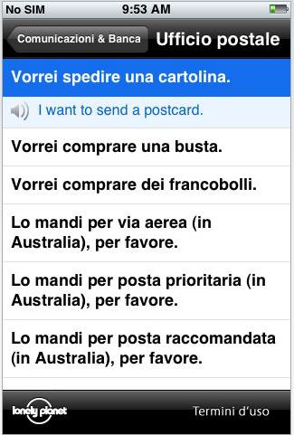 Lonely planet italiano e frasario inglese su appstore for Traduzione da inglese a italiano