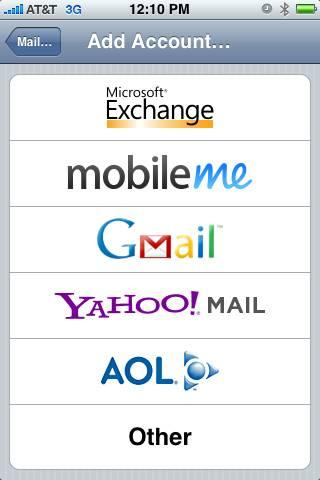 iPhone Yahoo Add Account