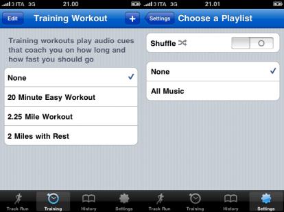 allenarsi con iphone