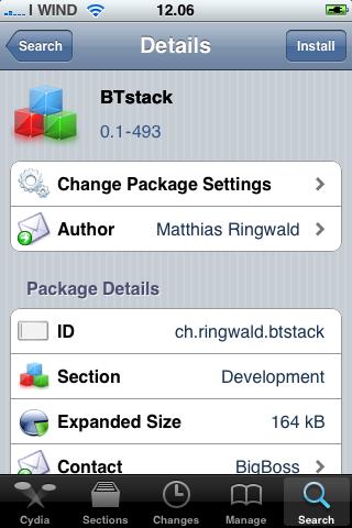BtStack (Cydia) si aggiorna ed ora è compatibile anche con iPhone 2G