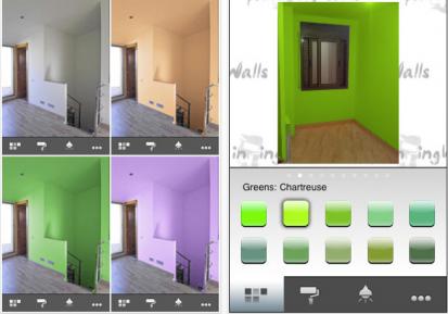 Paintingwalls colora la tua stanza con l 39 iphone iphone italia - Colorare pareti di casa ...