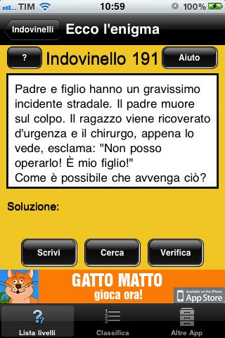 Enigmista Indovinelli E Giochi Di Logica Su Iphone Iphone Italia
