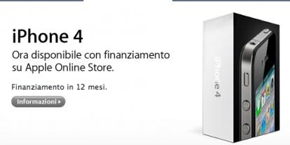 iPhone 4 disponibile con finanziamento su Apple Online Store - iPhone Italia Blog