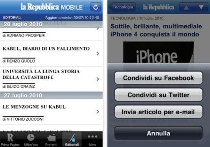 repubblica mobile gratis