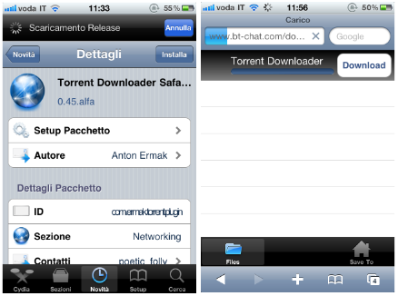 how to add file in utorrent to iphone