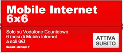 Vodafone Mobile Internet 6x6 dura solo un mese? No, è solo ...