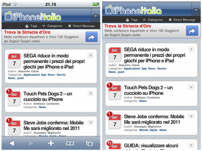 FullScreen Safari for iOS 3 x disponibile in Cydia Store