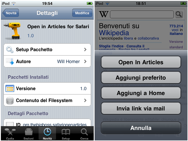 how to open safari preferences on iphone
