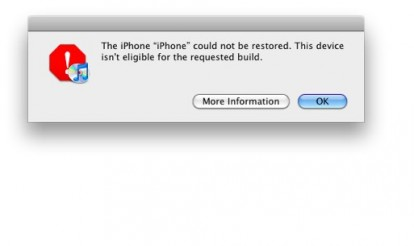iphone could not be restored apple blocca le firme digitali per ios 4 2 1 iphone italia 1879