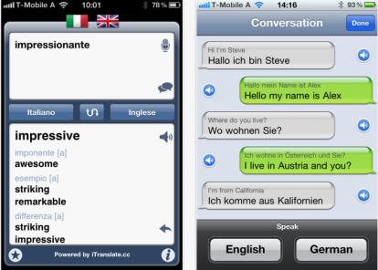 Itranslate il traduttore universale per iphone si for Traduttore apple