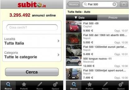 Annunci di compravendita e lavoro su iphone for Subito milano