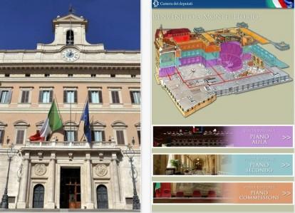 Montecitorio l 39 app gratuita dedicata alla camera dei for Parlamento montecitorio