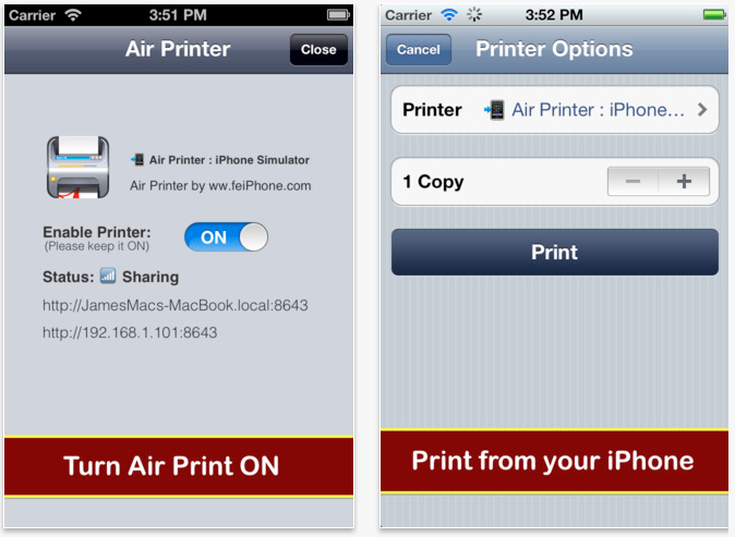 air printer for iphone air printer una nuova applicazione per stampare da iphone 1876