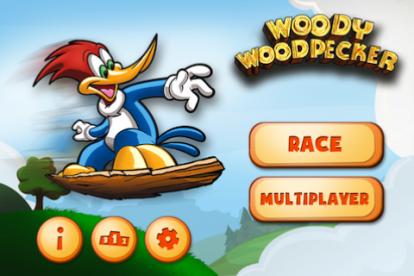 Woody woodpecker il picchio dei cartoni animati in un gioco su