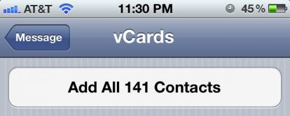 importare rubrica vcf su iphone 6s