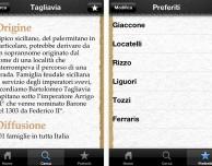 Scopri l'origine dei cognomi con l'app Cognomi Italiani