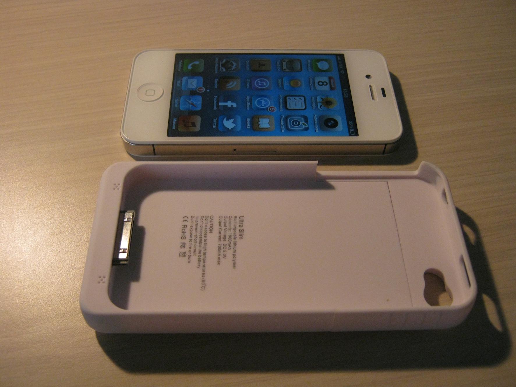 custodia batteria iphone 4s