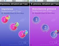 """""""Impotenza Istruzioni per l'uso"""" ed """"Eiaculazione precoce Istruzioni per l'uso"""" disponibili su App Store"""