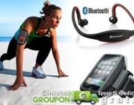 Su Groupon in offerta le cuffie Bluetooth Sport e la fascia da braccio per iPhone e iPod a meno di 30€!