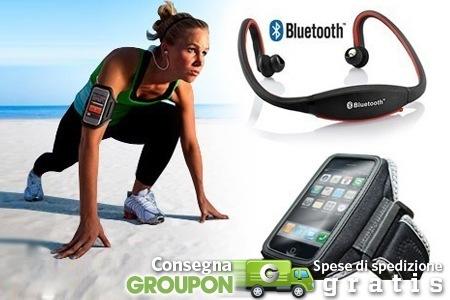 Su groupon in offerta le cuffie bluetooth sport e la - Porta ipod da braccio ...