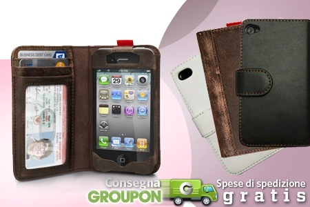 custodia in pelle iphone 4