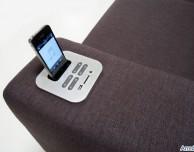 Zenzero: un divano con dock station e stereo integrati per iPhone ed iPod