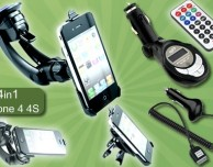 Su Groupon kit da auto 4-in-1 per iPhone 4/4S con quasi il 50% di sconto