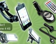 Su Groupon kit da auto 4-in-1 per iPhone 4/4S con quasi il 50% di sconto