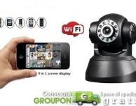 Su Groupon in offerta la telecamera di monitoraggio a distanza con rilevatore di movimento