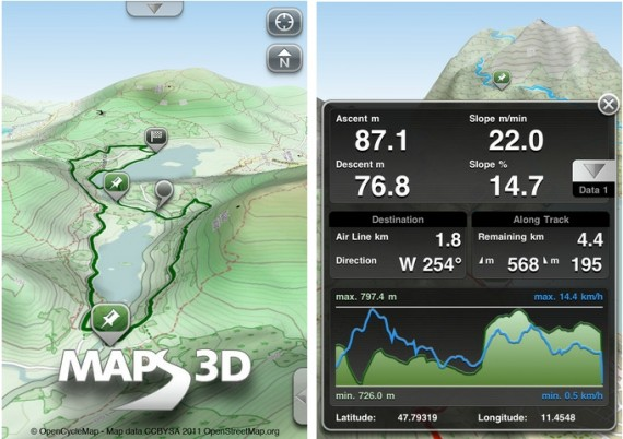 Maps 3D: GPS tracking con mappe 3D - iPhone Italia