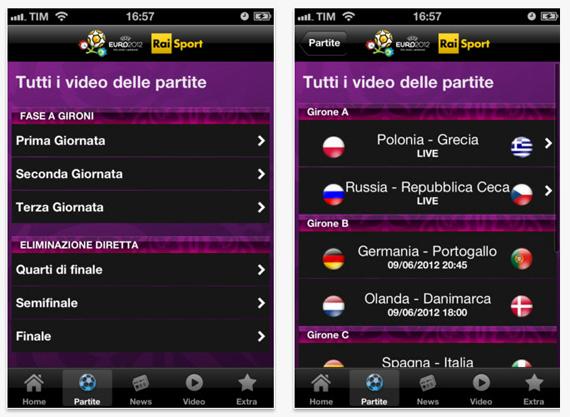 Rai euro 2012 l 39 app ufficiale rai per vedere in diretta for App per vedere telecamere su android