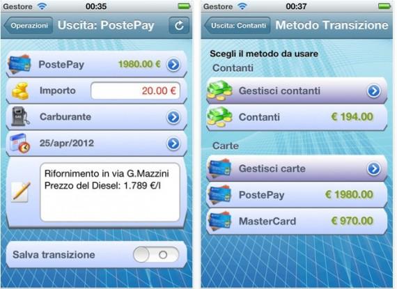 app gestione finanze