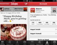 Bdayme, l'applicazione per ricordarvi di fare gli auguri ai vostri amici di Twitter