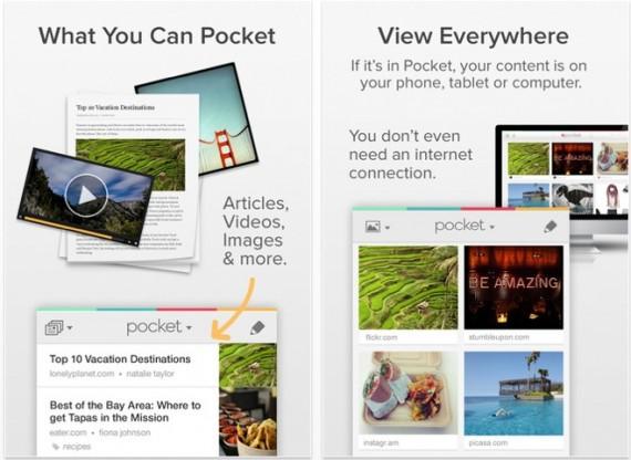Arriva su App Store un nuovo aggiornamento per Pocket