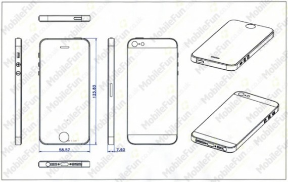 """Alcuni disegni confermano che il nuovo """"iPhone 5″ sarà più sottile e più alto"""