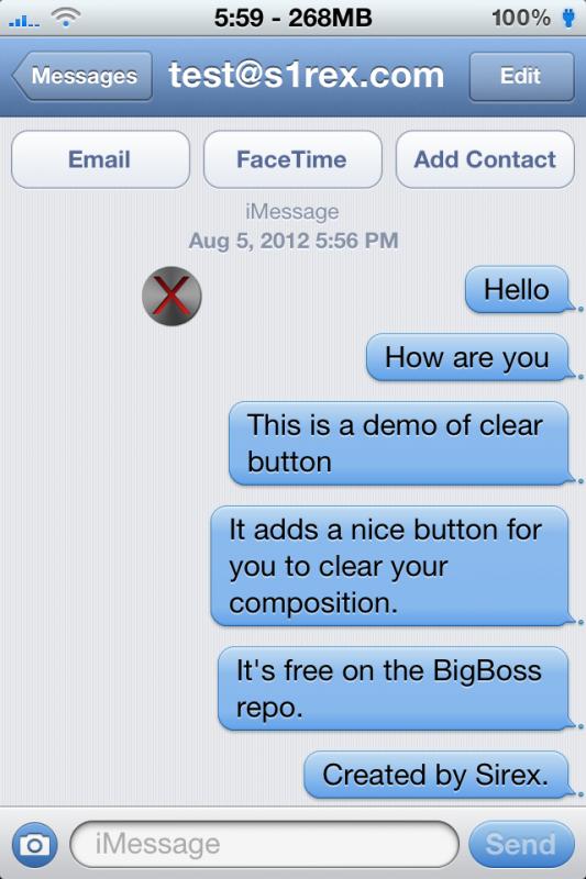 Favoloso ClearButton, cancella la cronologia delle chat in Messaggi con un  DA72