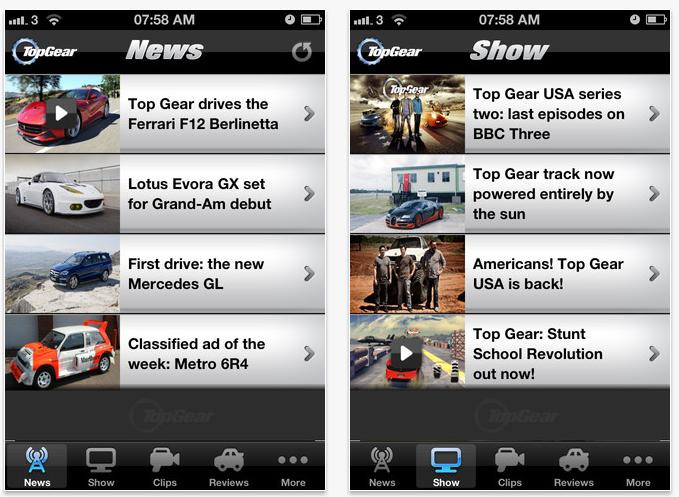 top gear news una nuova app per rimanere sempre aggiornati sul mondo di top gear iphone italia. Black Bedroom Furniture Sets. Home Design Ideas