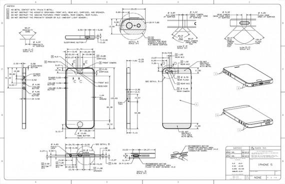 apple pubblica il blueprint dell 39 iphone 5 con tutti i dettagli estetici del dispositivo. Black Bedroom Furniture Sets. Home Design Ideas