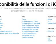 iOS 6: ecco la lista completa delle funzionalità che saranno disponibili in Italia