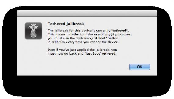 Tethered jailbreak