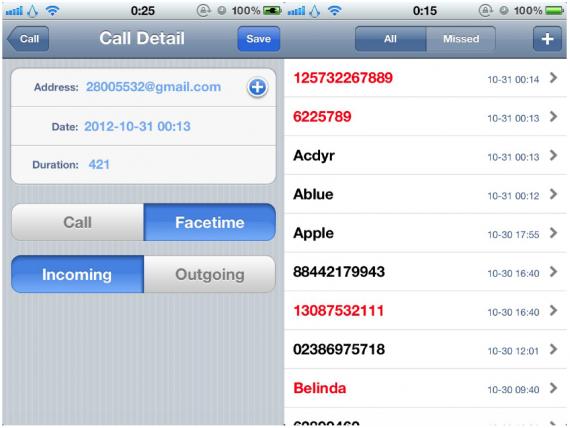 vedere registro chiamate iphone